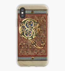 Decorated Incipit Page - Opening of Luke's Gospel (1120 - 1140 AD) iPhone Case