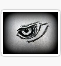 Eagle eye pencil drawing Sticker
