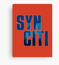 Syn Citi In Blue Canvas Print