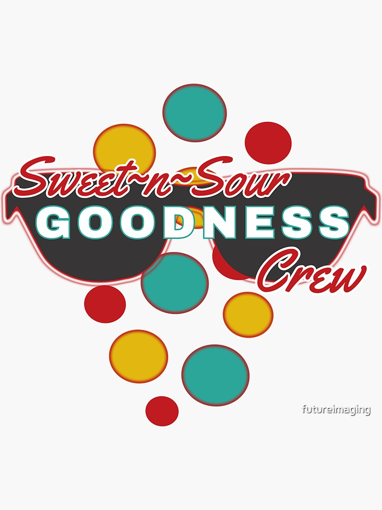 Sweet & Sour Goodness Crew | colorful dot accessories | Fun |Expressive   by futureimaging