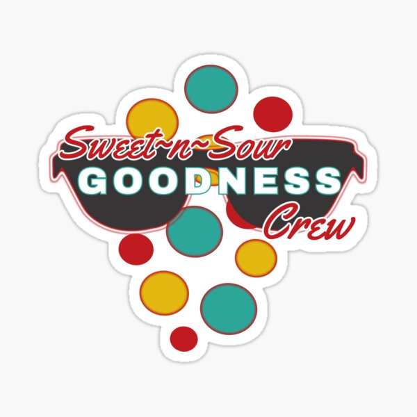 Sweet & Sour Goodness Crew | colorful dot accessories | Fun |Expressive   Sticker