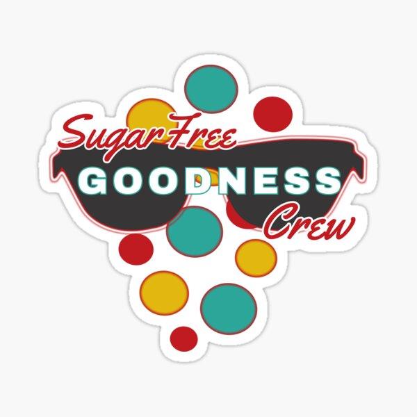 Sugar Free Goodness Crew | Colorful Dot Accessories |Fun | Expressive   Sticker