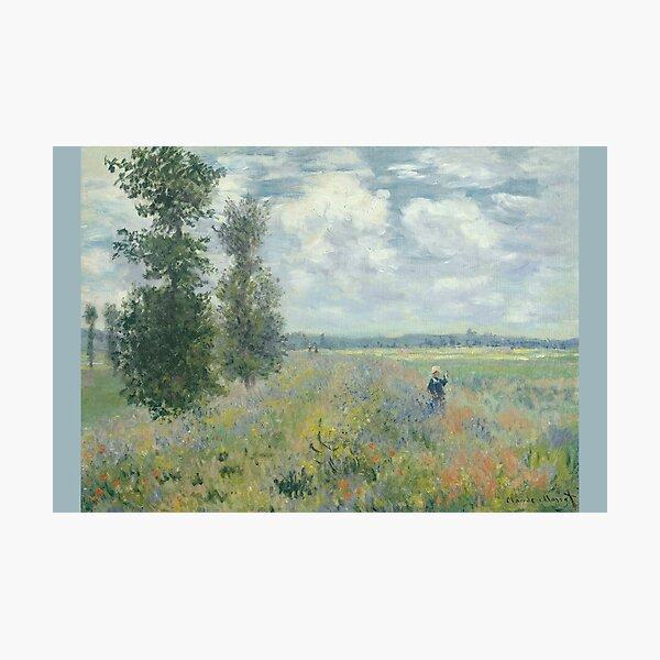 MONET. Poppy Fields near Argenteuil. 1875. Photographic Print