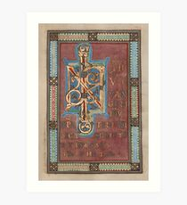 Decorated Incipit Page - Beginning of Mark's Gospel (1120 - 1140 AD) Art Print