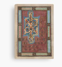 Decorated Incipit Page - Beginning of Mark's Gospel (1120 - 1140 AD) Canvas Print