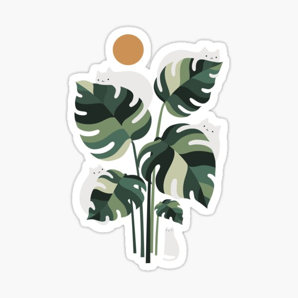 Cat and Plant 11 Sticker
