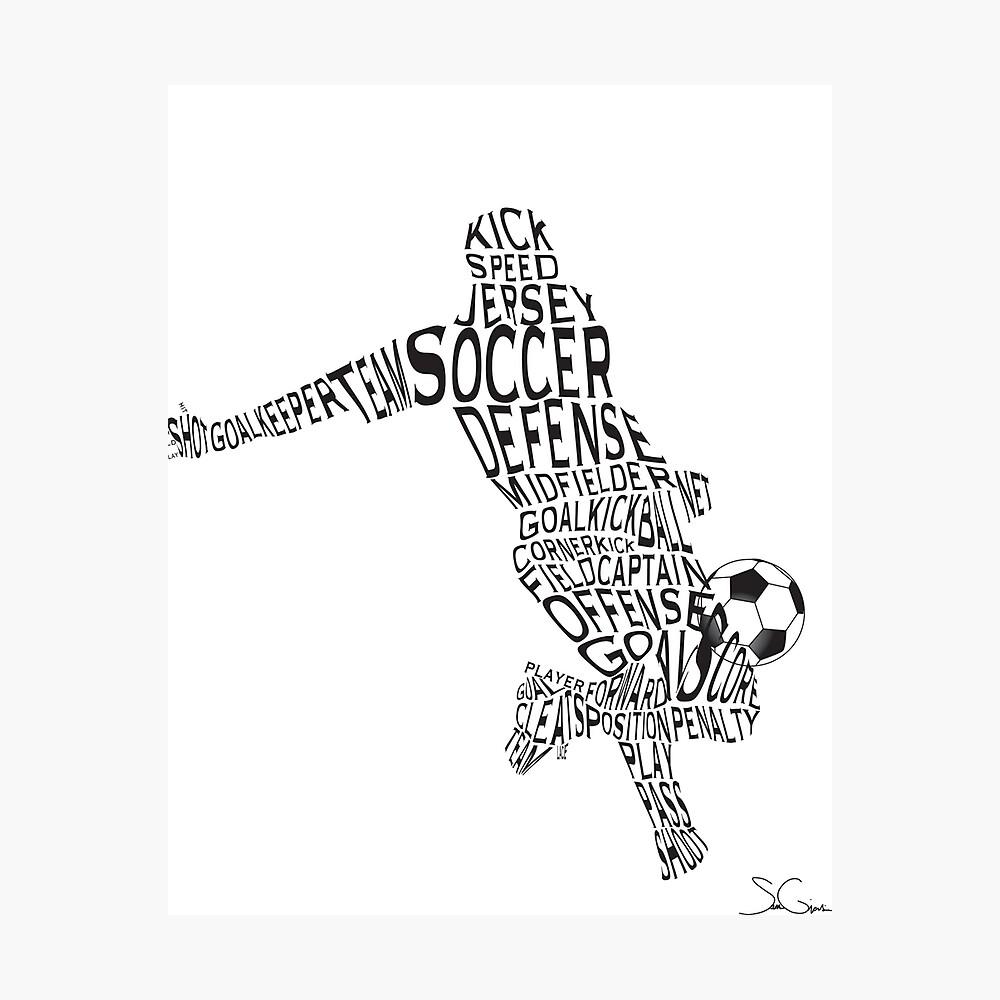 Fußballspieler Fotodruck