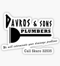 Davros and sons, plumbers... Sticker