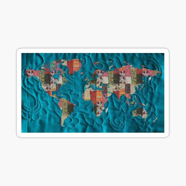 patchwork lit mag map Sticker