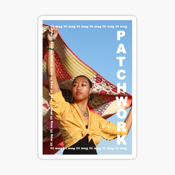patchwork lit mag Issue 1 Cover Sticker