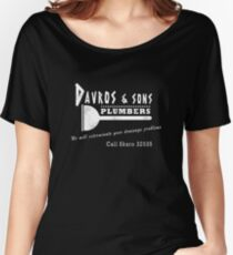 Davros and sons, plumbers... (aged) Women's Relaxed Fit T-Shirt