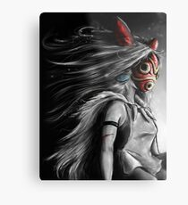Mononoke Wolf Anime Tra Digital Painting Metal Print