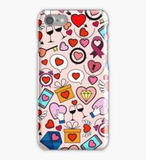 Love heart doodle iPhone Case/Skin