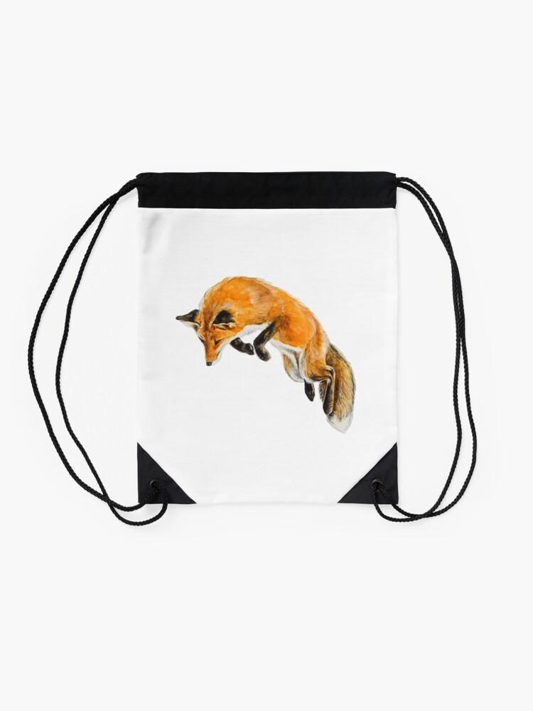 Alternate view of Fox Spring Drawstring Bag