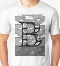 Letter B Architecture Section Alphabet  T-Shirt