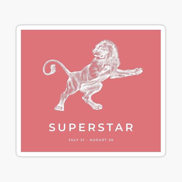 Leo 'Superstar' Victorian Zodiac Sticker