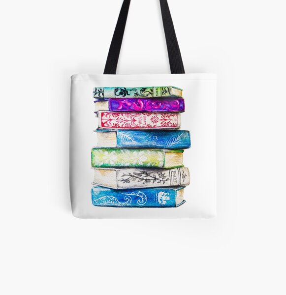 Stack of Books All Over Print Tote Bag