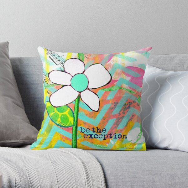 """""""Be The Exception"""" Original Design by PhillipaheART Throw Pillow"""