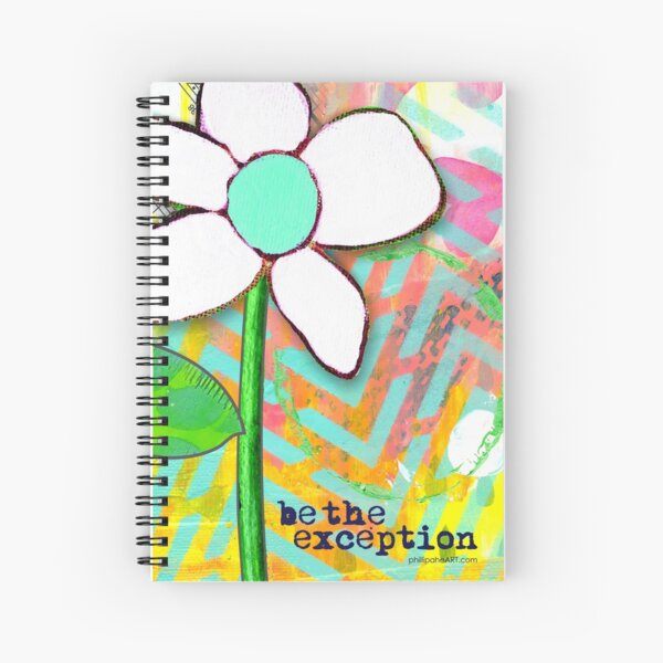 """""""Be The Exception"""" Original Design by PhillipaheART Spiral Notebook"""