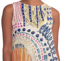 Shakti Abstract Hand Painted Design Contrast Tank