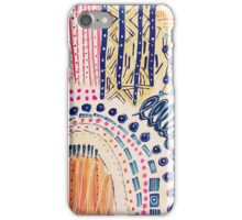 Shakti Abstract Hand Painted Design iPhone Case/Skin