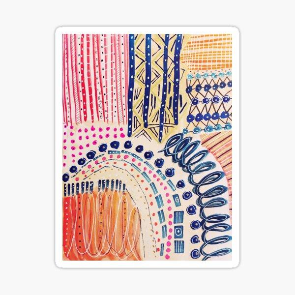 Shakti Abstract Hand Painted Design Sticker