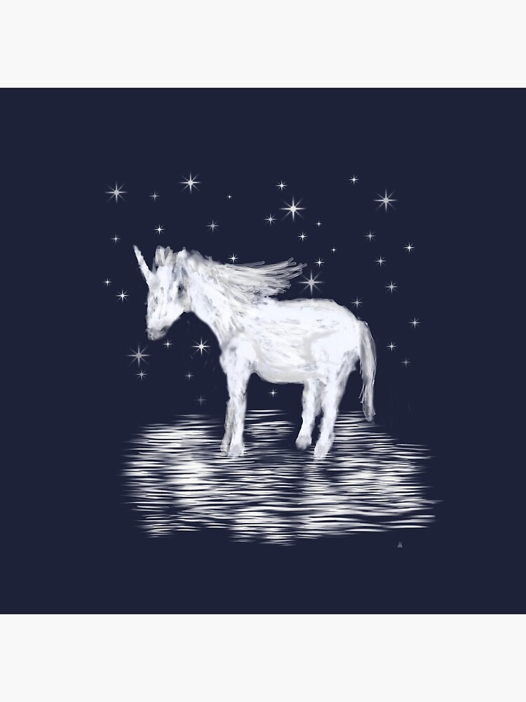 Whimsical Unicorn and Stars Design by ClareWalkerArt
