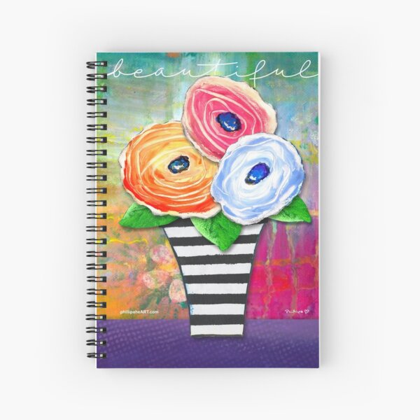 """Beautiful"" Original Design by PhillipaheART Spiral Notebook"