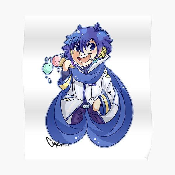 Vocaloid Kaito Poster By Dazai Redbubble