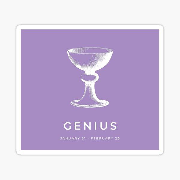 Aquarius 'Genius' Victorian Zodiac Sticker