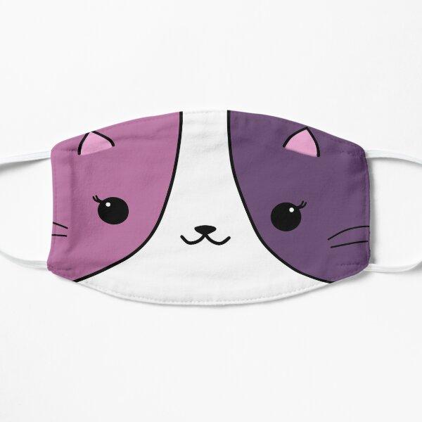 Aphmau cat pink and purple Flat Mask