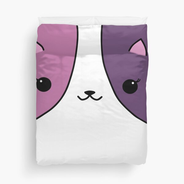 Aphmau Katze rosa und lila Bettbezug