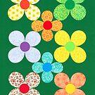 EIGHT CUT SHEET FLOWERS by RainbowArt