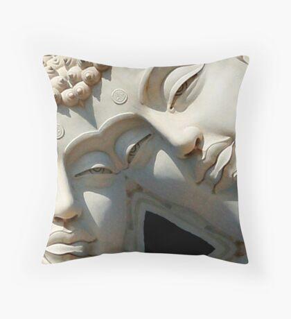 dreaming of buddha Throw Pillow