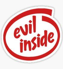 Evil Inside Sticker