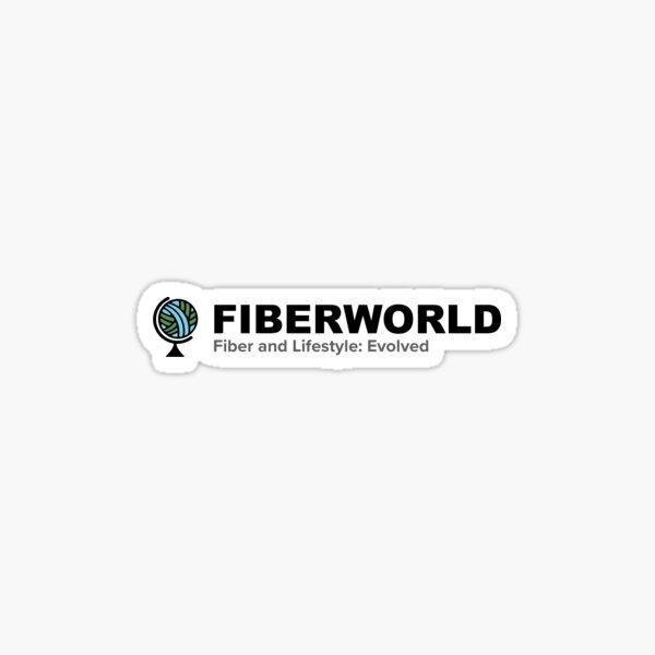FIberworld long logo - no date Sticker