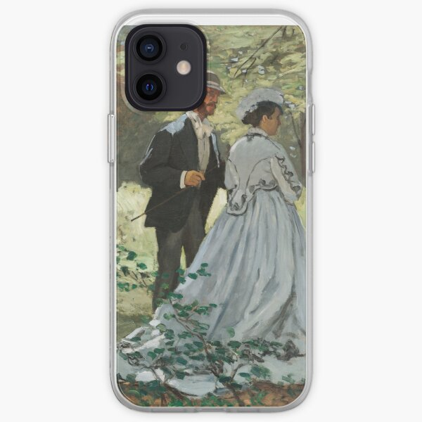 Impressionist Painting Bazille and Camille (1865) by Claude Monet iPhone Soft Case