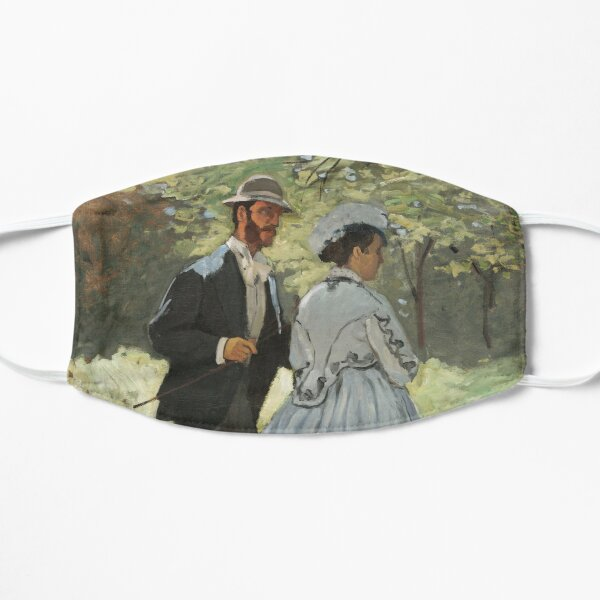 Impressionist Painting Bazille and Camille (1865) by Claude Monet Flat Mask