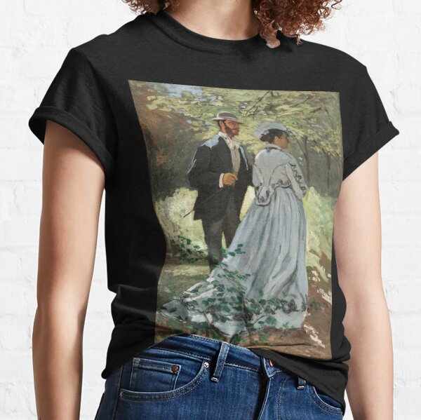 Impressionist Painting Bazille and Camille (1865) by Claude Monet Classic T-Shirt