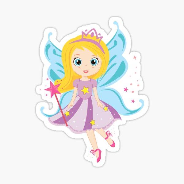 Kids, children, girls, princesses, fairies,  illustration Sticker