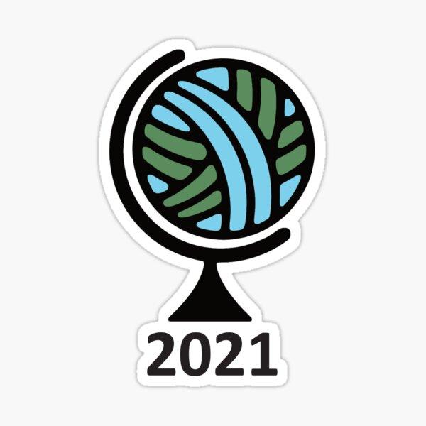 Globe with year Sticker