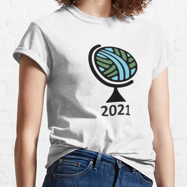Globe with year Classic T-Shirt