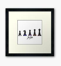 Human Chess Framed Print