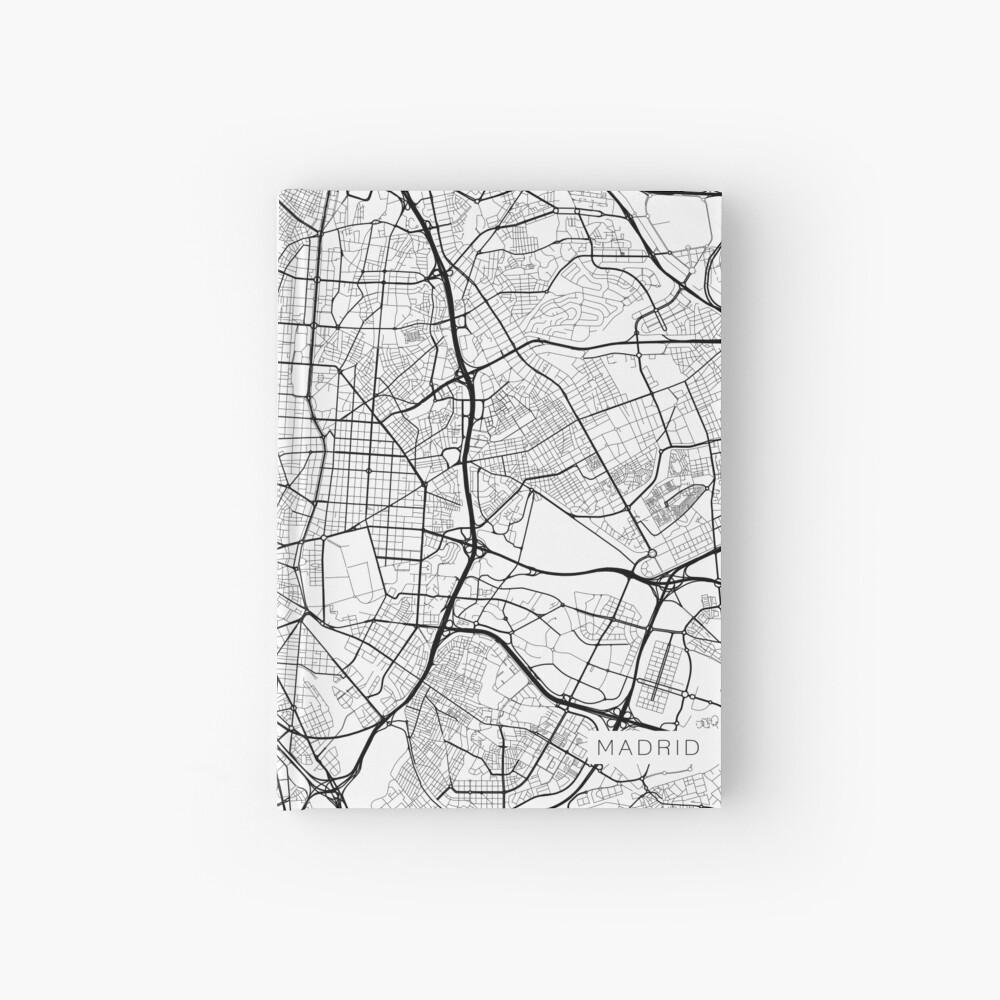Madrid Map, Spanien - Schwarz und Weiß Notizbuch