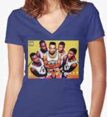 ¡EL FAB CINCO! Women's Fitted V-Neck T-Shirt
