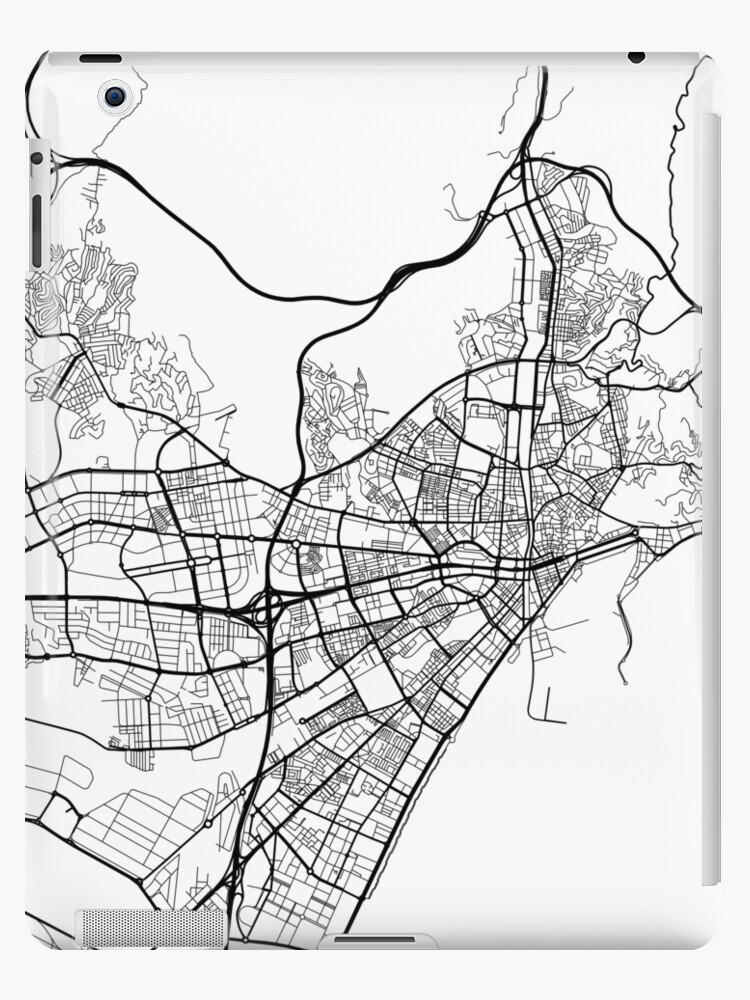 Map Of Spain Drawing.Malaga Map Spain Black And White Ipad Cases Skins By