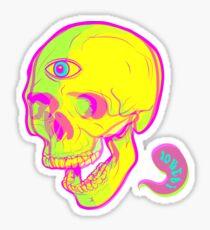 LSD Skull Sticker