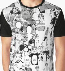 Bokuto Koutarou Collage Graphic T-Shirt