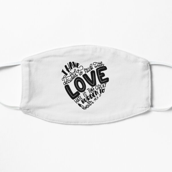 Quotes By Martin Luther King J| Perfect Gift Flat Mask