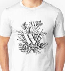 Plant Alphabet Letter W T-Shirt